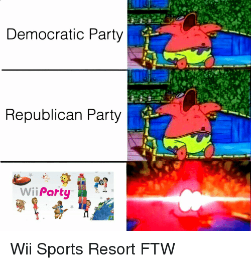 Republican Party: Democratic Party  Republican Party  Wii Party Wii Sports Resort FTW
