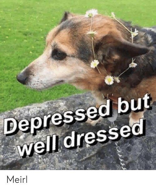 Dressed: Depressed but  well dressed Meirl