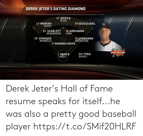 Resume: Derek Jeter's Hall of Fame resume speaks for itself...he was also a pretty good baseball player https://t.co/SMif20HLRF