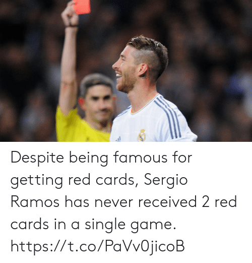 sergio ramos: Despite being famous for getting red cards, Sergio Ramos has never received 2 red cards in a single game. https://t.co/PaVv0jicoB
