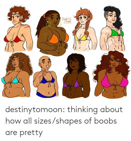 thinking: destinytomoon:    thinking about how all sizes/shapes of boobs are pretty