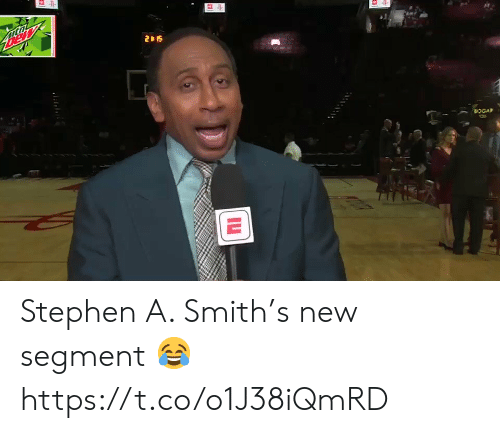 Stephen, Stephen A. Smith, and New: DEW  2 1S  BOGAP Stephen A. Smith's new segment 😂 https://t.co/o1J38iQmRD