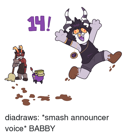 Smashing, Target, and Tumblr: diadraws:  *smash announcer voice* BABBY