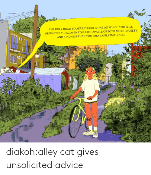 Gives: diakoh:alley cat gives unsolicited advice