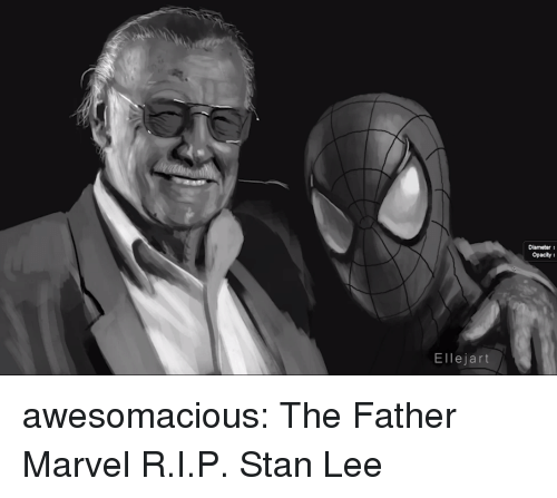 Stan, Stan Lee, and Tumblr: Diameter  Opacity  Ellejart awesomacious:  The Father Marvel R.I.P. Stan Lee