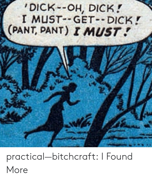 Pant: DICK-OH, DICK!  I MUST GET DICK!  (PANT, PANT) I MUST practical—bitchcraft:  I Found More