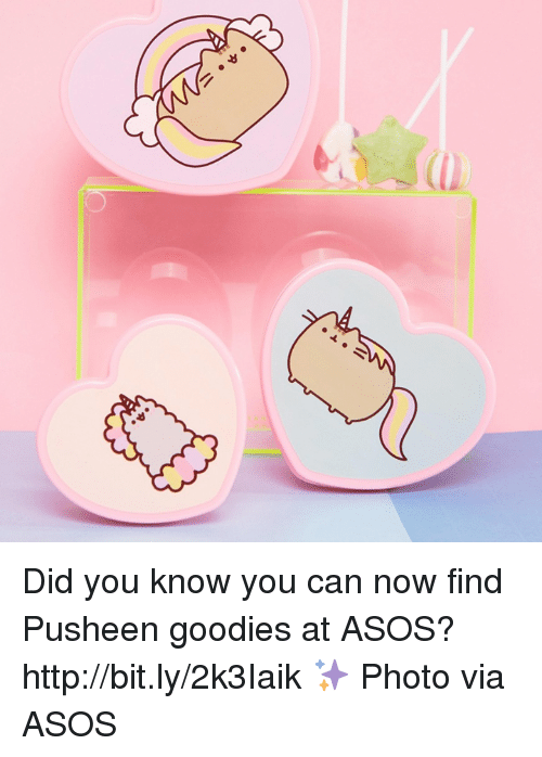 Dank, Asos, and 🤖: Did you know you can now find Pusheen goodies at ASOS? http://bit.ly/2k3Iaik ✨ Photo via ASOS