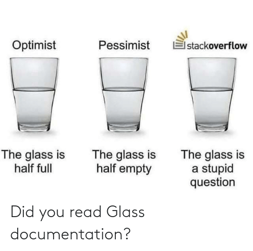 glass: Did you read Glass documentation?