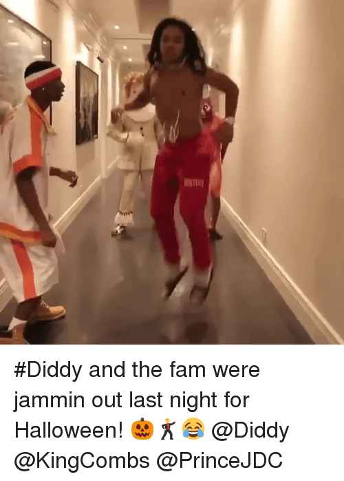 Fam, Halloween, and Jammin: #Diddy and the fam were jammin out last night for Halloween! 🎃🕺😂 @Diddy @KingCombs @PrinceJDC