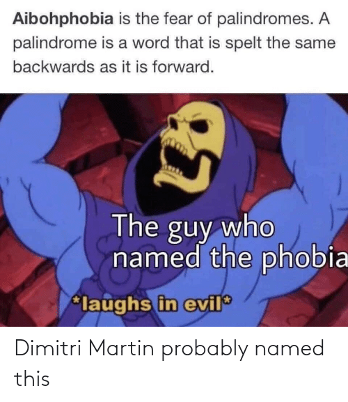 Martin: Dimitri Martin probably named this
