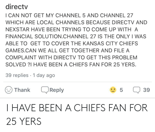Directv I CAN NOT GET MY CHANNEL 5 AND CHANNEL 27 WHICH ARE