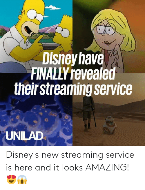 Disney's: Disneyhave  FINALLY revealed  theirstreaming service  UNILAD Disney's new streaming service is here and it looks AMAZING! 😍😱