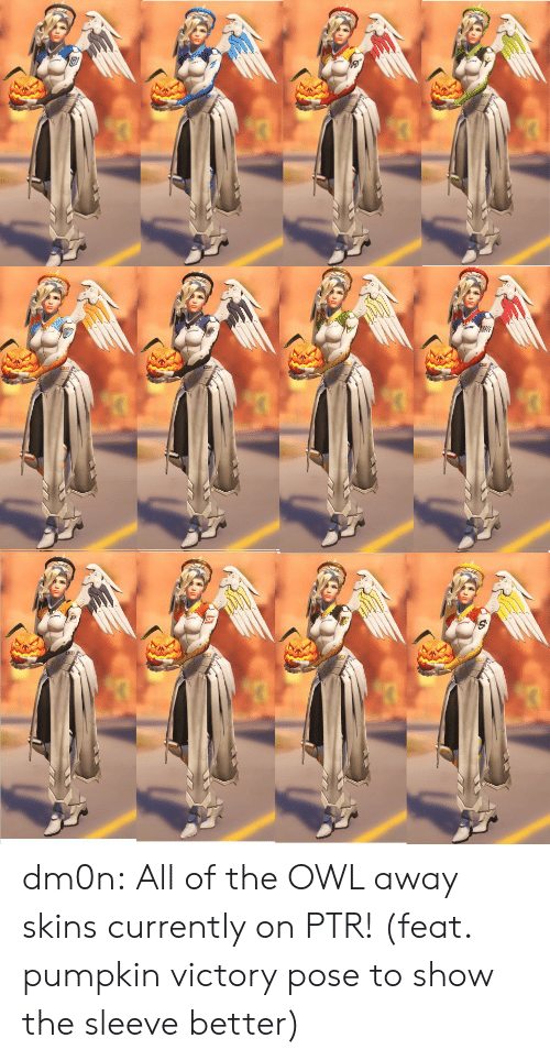Tumblr, Blog, and Pumpkin: dm0n:  All of the OWL away skins currently on PTR! (feat. pumpkin victory pose to show the sleeve better)