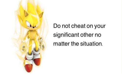 significant other: Do not cheat on your  significant other no  matter the situation.