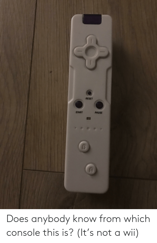 wii: Does anybody know from which console this is? (It's not a wii)