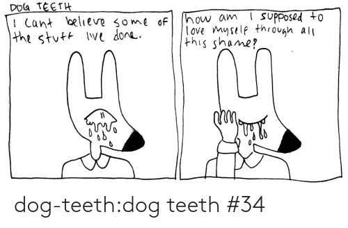 All This: DOG TEETH  I Cant believe some of  the stuft Ive done.  ! suPposed to  how am  love myself through all  this shame? dog-teeth:dog teeth #34
