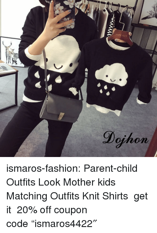 "Fashion, Tumblr, and Blog: Dojhon ismaros-fashion: Parent-child Outfits Look  Mother  kids Matching Outfits Knit Shirts  get it  20% off coupon code ""ismaros4422″"