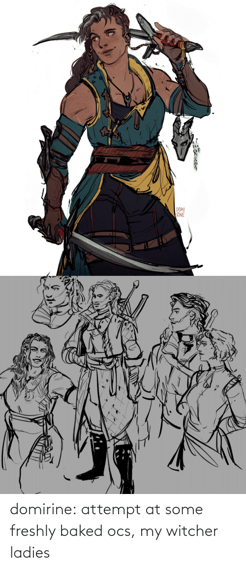 ladies: domirine:  attempt at some freshly baked ocs, my witcher ladies
