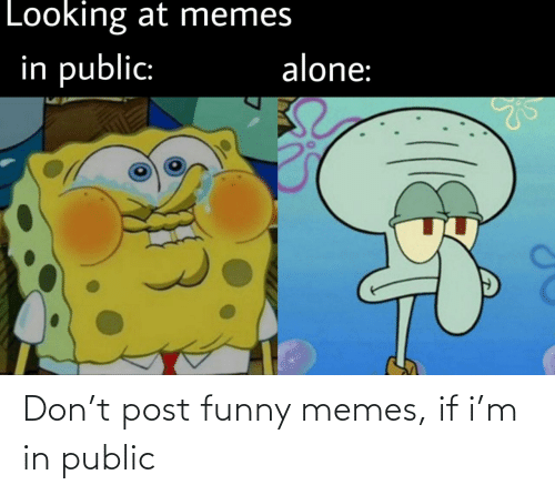 Funny, Memes, and Don: Don't post funny memes, if i'm in public