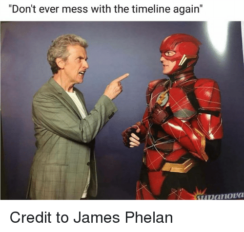 """Memes, 🤖, and James: """"Don't ever mess with the timeline again' Credit to James Phelan"""