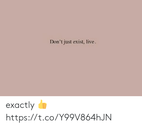 Live, Just, and Exactly: Don't just exist, live. exactly 👍 https://t.co/Y99V864hJN