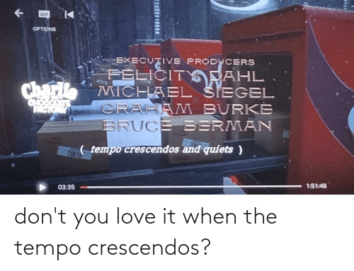 tempo: don't you love it when the tempo crescendos?