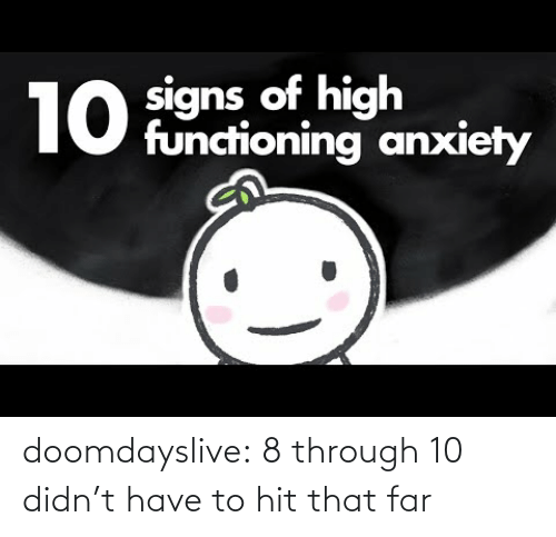 Tumblr, Blog, and Com: doomdayslive: 8 through 10 didn't have to hit that far