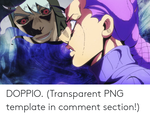 transparent png: DOPPIO. (Transparent PNG template in comment section!)