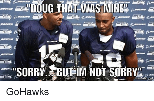 Seattle Seahawks: DOUG THAT WAS MINE  mematic,net GoHawks