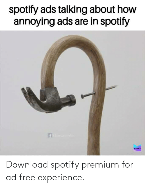Experience: Download spotify premium for ad free experience.