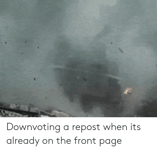 Page, Repost, and  Already: Downvoting a repost when its already on the front page