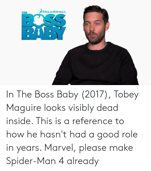 Dreamworks The Sso Baby In The Boss Baby 2017 Tobey Maguire