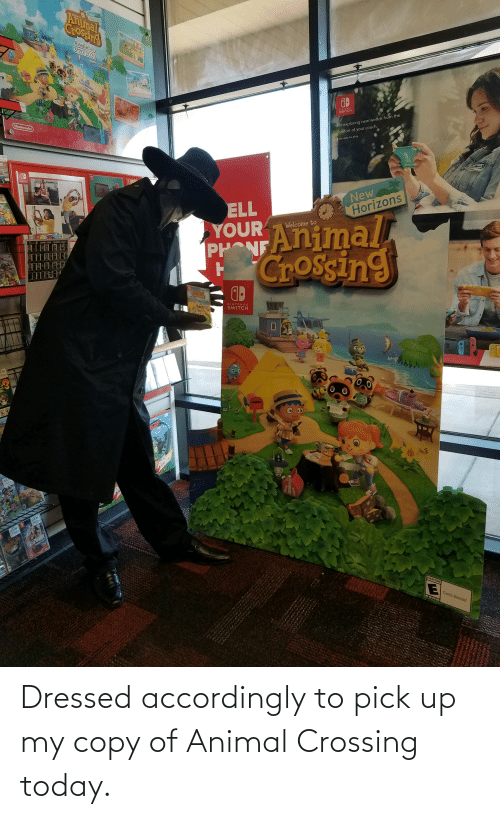 accordingly: Dressed accordingly to pick up my copy of Animal Crossing today.