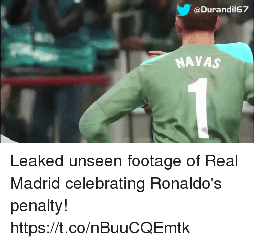 Sizzle: @Durandil67  NAVAS Leaked unseen footage of Real Madrid celebrating Ronaldo's penalty! https://t.co/nBuuCQEmtk