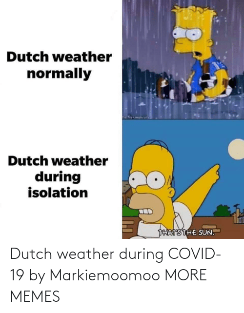 Dutch Language: Dutch weather during COVID-19 by Markiemoomoo MORE MEMES