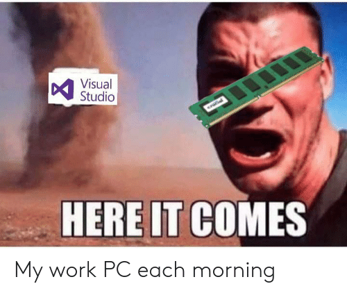 Work, Crucial, and Studio: DYisual  Studio  crucial  HERE IT COMES My work PC each morning