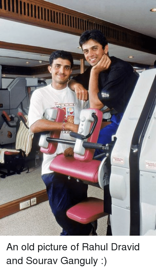old picture: e An old picture of Rahul Dravid and Sourav Ganguly :)