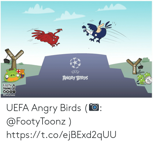 uefa: E F  ANGRY BIRDS  TOONZE  900f  @footytoonz UEFA Angry Birds (📷: @FootyToonz ) https://t.co/ejBExd2qUU