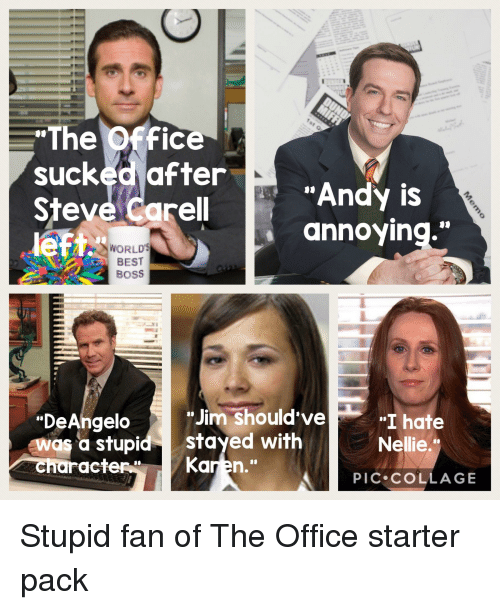 E Office Sucked After Steve Carel Left Th Andy Is Gnnoying World S