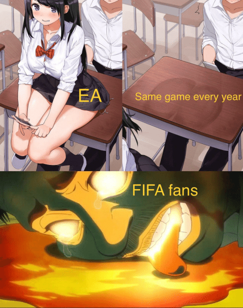 Ea: EA  Same game every year  FIFA fans