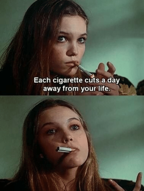 lite: Each cigarette cuts a day  away from your lite