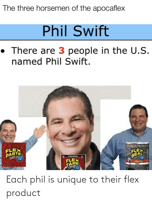 Flexing: Each phil is unique to their flex product