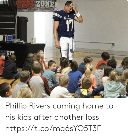 phillip rivers: EADS ZONE  a  @nfirayinkle Phillip Rivers coming home to his kids after another loss https://t.co/mq6sYO5T3F