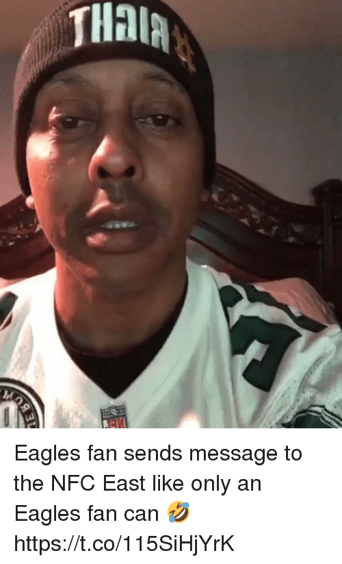 Philadelphia Eagles, Football, and Nfl: Eagles fan sends message to the NFC East like only an Eagles fan can 🤣  https://t.co/115SiHjYrK
