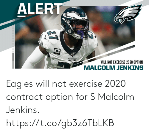 option: Eagles will not exercise 2020 contract option for S Malcolm Jenkins. https://t.co/gb3z6TbLKB