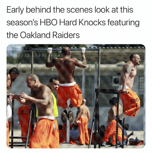 oakland: Early behind the scenes look at this  season's HBO Hard Knocks featuring  the Oakland Raiders  CDC