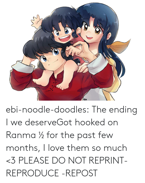 Love, Target, and Tumblr: ebi-noodle-doodles:  The ending I we deserveGot hooked on Ranma ½ for the past few months, I love them so much <3 PLEASE DO NOT REPRINT- REPRODUCE -REPOST