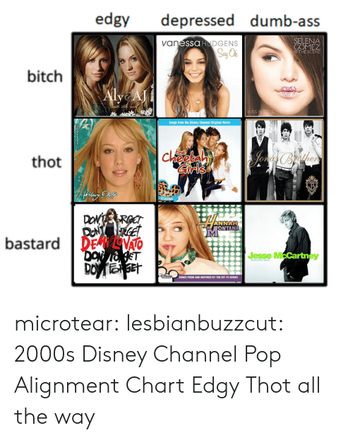 Ass, Bitch, and Disney: edgy depressed dumb-ass  DGENS  SELENA  COME  van  SSOHU  bitch  Songs from the Disney  Original Movie  thot  che  on  Ise  ANNAH  UONTANA  bastard DE VAO  ST  Jesse M  ey  DO  SONGS FROM AND INSPIRED BY THE HIT TV SERIES microtear:  lesbianbuzzcut: 2000s Disney Channel Pop Alignment Chart Edgy Thot all the way