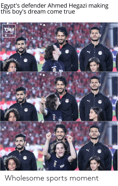 visa: Egypt's defender Ahmed Hegazi making  this boy's dream come true  TSH  VIS  CAR  VISA  ARM  VIS! Wholesome sports moment