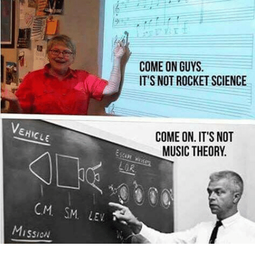 Memes, Music, and Science: EHICLE  CM SM. LEV  Mission  COME ON GUYS.  IT'S NOT ROCKET SCIENCE  COME ON. IT'S NOT  MUSIC THEORY